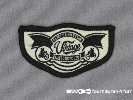 Stoere applicatie 58x33mm Vintage Motorcycle