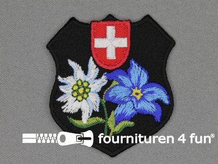 Landhuis applicatie 53x53mm embleem Zwitserland
