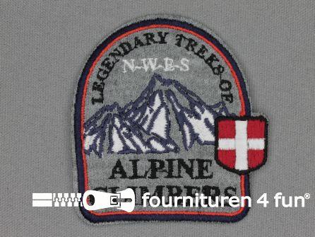Landhuis applicatie 70x65mm Alpine Climbers