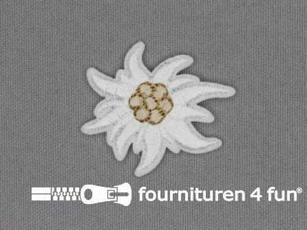 Landhuis applicatie 37x32mm edelweiss