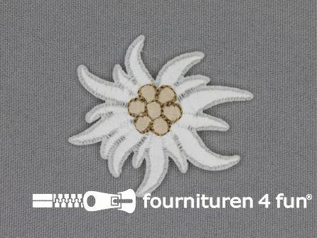 Landhuis applicatie 48x40mm edelweiss
