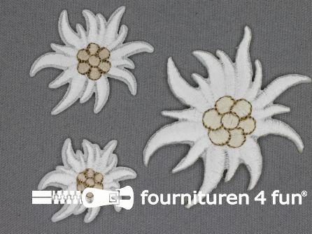 Landhuis applicatie set 3 stuks edelweiss