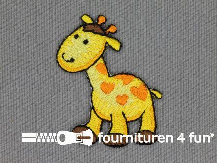 Kids applicatie 50x38mm giraf