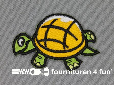 Kids applicatie 55x40mm schildpad
