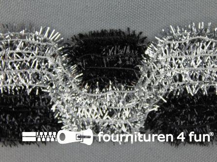 Party band 38mm zilver - zwart