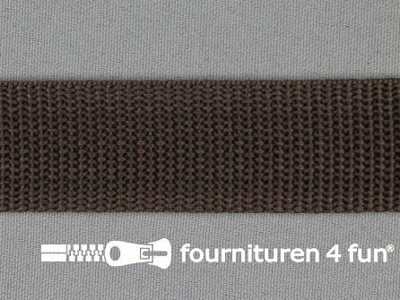 Parachute band 25mm donker bruin