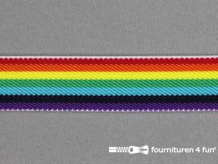 Elastiek regenboog 24mm multicolor