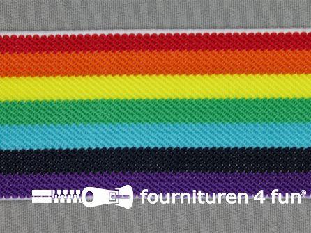 Elastiek regenboog 48mm multicolor