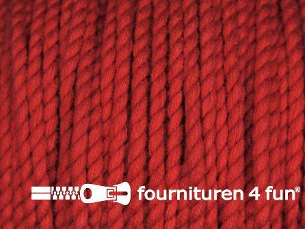 Katoen polyester koord 2,5mm rood