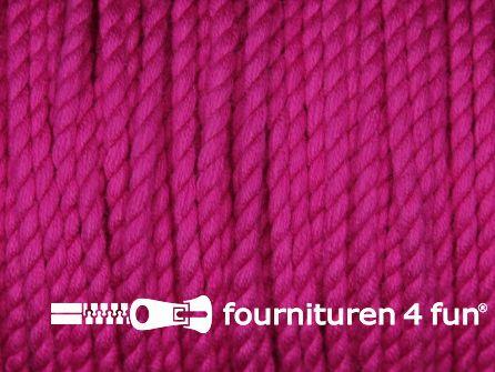 Katoen polyester koord 2,5mm fuchsia roze