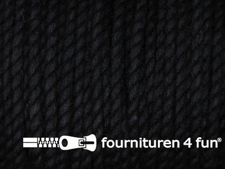 Katoen polyester koord 2,5mm zwart