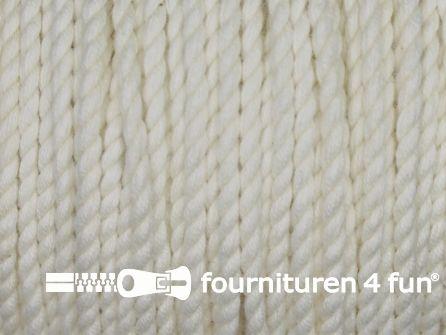 Katoen polyester koord 2,5mm ecru