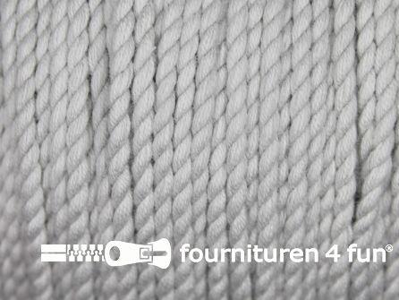 Katoen polyester koord 2,5mm licht grijs