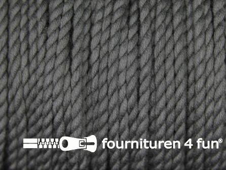 Katoen polyester koord 2,5mm donker grijs