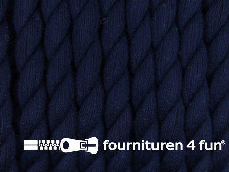 Katoen polyester koord 5mm marine blauw