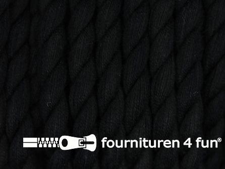 Katoen polyester koord 5mm zwart