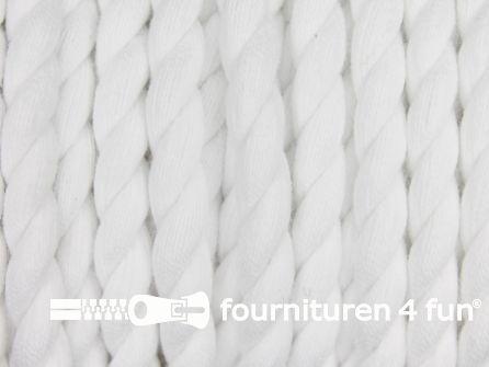 Katoen polyester koord 5mm wit