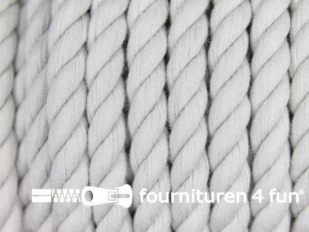 Katoen polyester koord 5mm licht grijs