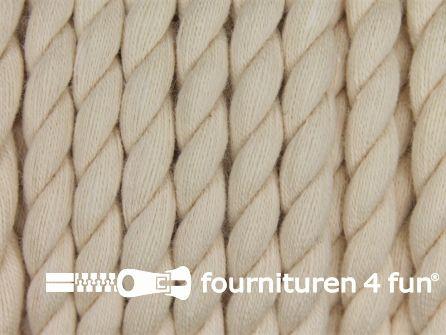 Katoen polyester koord 5mm beige