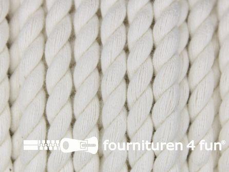 Katoen polyester koord 5mm ecru