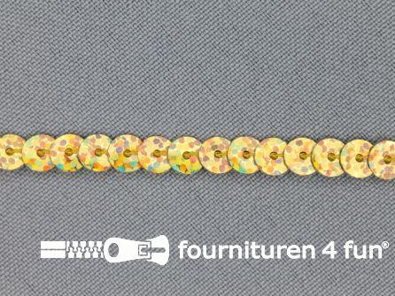 Pailletten band 6mm hologram goud