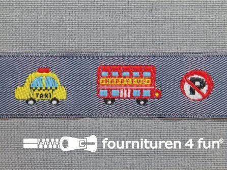 Kinderband 20mm bus - taxi blauw