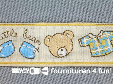 Kinderband 25mm little bear beige