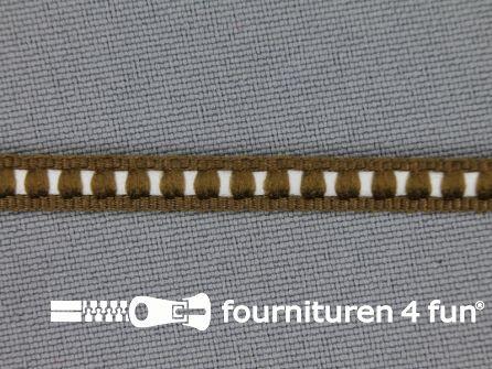 Modern band 6mm ribbel bruin