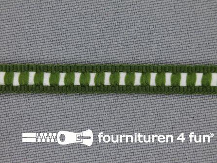 Modern band 6mm ribbel olijf groen