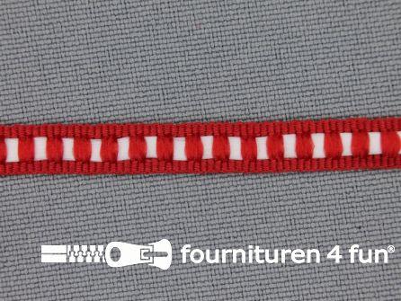 Modern band 6mm ribbel rood