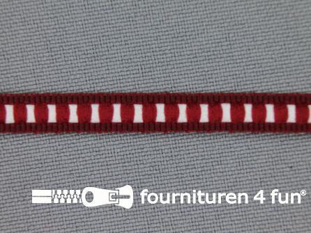 Modern band 6mm ribbel bordeaux rood