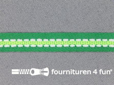 Modern band 8mm stippellijn groen - neon groen