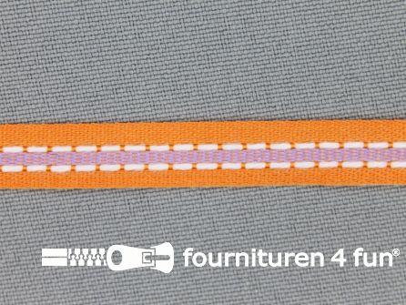 Modern band 8mm stippellijn oranje - lila