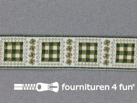Modern band 16mm geruite blokjes groen