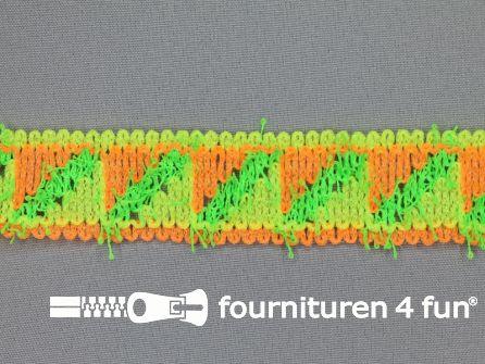 Modern band 30mm neon oranje - geel - groen