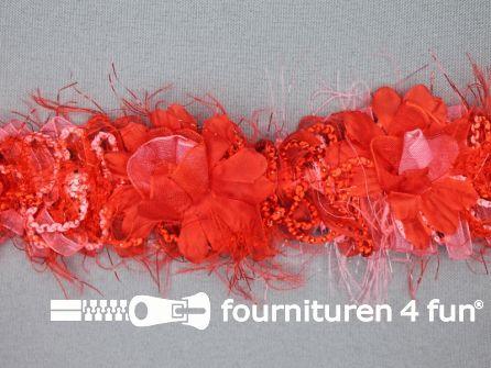 Bloemenkant 40mm rood