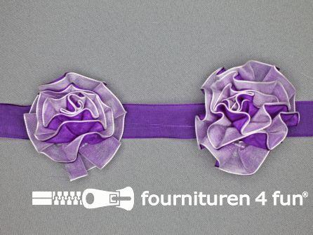 Bloemenkant 60mm paars