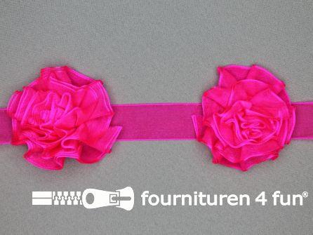 Bloemenkant 60mm fuchsia roze