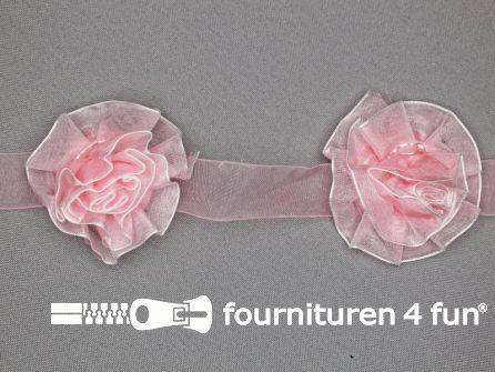 Bloemenkant 60mm licht roze