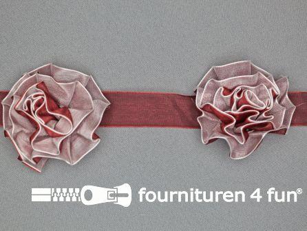Bloemenkant 60mm bordeaux rood