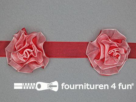 Bloemenkant 60mm rood