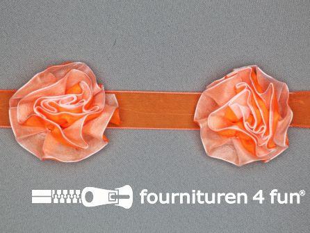 Bloemenkant 60mm neon oranje