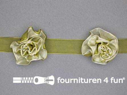 Bloemenkant 60mm olijf groen