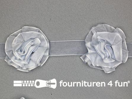 Bloemenkant 60mm licht grijs