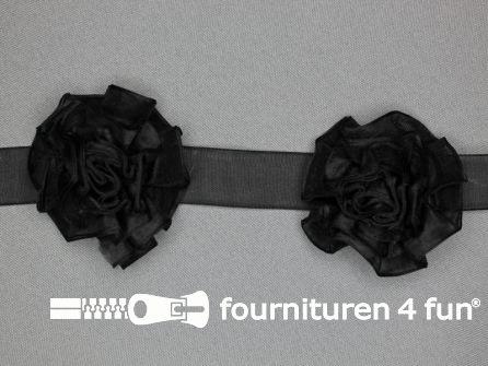 Bloemenkant 60mm zwart