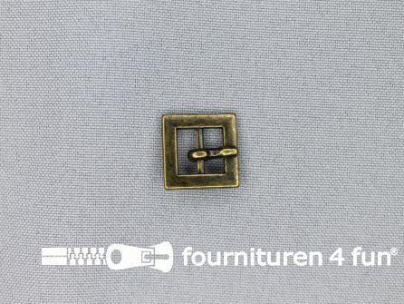 Metalen gesp 10mm vierkant brons