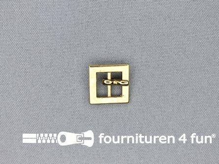 Metalen gesp 10mm vierkant goud