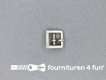 Metalen gesp 10mm vierkant zilver