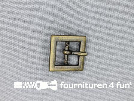 Metalen gesp 15mm vierkant brons