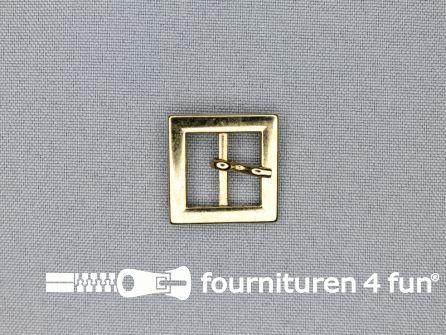 Metalen gesp 15mm vierkant goud